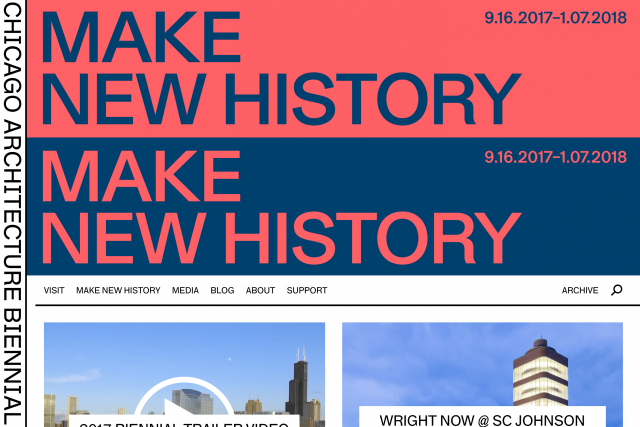 2017 Chicago Architecture Biennial Website