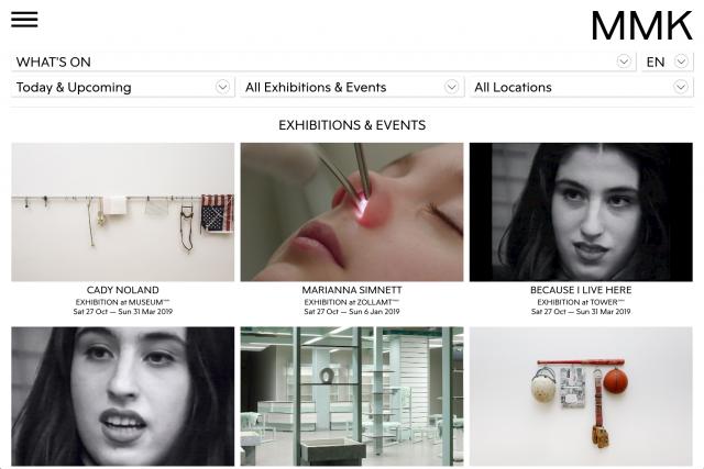 Museum für Moderne Kunst Website